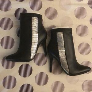 Paperfox Black Heeled Boots (never worn)